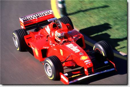 Formula 1 - 98 Melbourne - Eddie Irvine's luck was much better than Michael Schumacher's in this race: He drove his F300 s/n 181 to fourth just behind Heinz-Harald Frentzen, although the car had been the T-car.