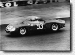 N�rburgring 1000 km 1962: The Rodriguez brothers, Pedro and Ricardo, drove Ferrari's first V8, the Dino 268SP s/n 0806 in it's debut race. The Mexicans retired, because Pedro spun into a ditch.