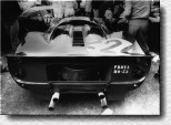Targa Florio 1967: No luck for Nino Vaccarella: He crashed the 330P4 s/n 0846 in the race on his homeground. He had shared the car with Ludovico Scarfiotti. In the backgound 0848 carrying start number 220.