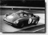 N�rburgring 1000 km 1966: The 250LM s/n 6119 was driven by the Swiss Team de Siebenthal/ Herediq.