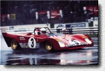 Monza 1000 km 1972: Arthuro Merzario in the heavy rain with the 312PB s/n 0884
