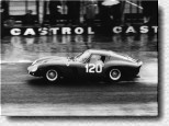 N�rburgring 1000 km 1962: It looks like a 250GTO, but the car that finished 2nd overall was entered in the prototype category. The Ferrari 3673SA was powered by a 4-Litre Testa Rossa engine and driven by Mairesse/ Parkes.