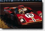 Le Mans 24 h 1971: N.A.R.T.'s 512M s/n 1020, driven by Posey/ Adamovicz finished in 3rd place. It was the best Ferrari finish of the year in the famous French race.