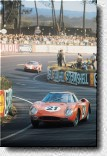 Le Mans 24 h 1965: Maston Gregory and Jochen Rindt won with the 250LM s/n 5893. The victory in the famous French race was the biggest success for Luigi Chinetti's North American Racing Team.