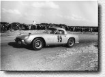 Airfield Schleissheim 1962: The German amateur Lautenschlager at the wheel of his 250GT California Spider Competizione s/n 2383GT.
