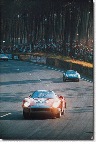 Le Mans 24 h 1965: The British Team Maranello Concessionaires entered the 250LM s/n 5895 for Bianchi/ Salmon who retired.