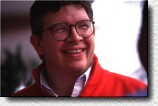 A smile on the face of Ross Brawn, Ferrari's technical director.