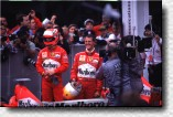 Schumacher 1st, Irvine 3rd: 14 point in the Constructors' World Championship for Ferrari