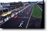 The British Grand Prix 1998. McLaren and Ferrari in the front row of the grid
