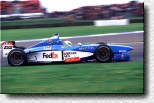 Giancarlo Fisichella at the wheel of his Benetton-Playlife