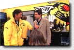 Damon Hill with actor Rowan Atkinson