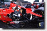 The remains of Eddie Irvine's F300 s/n 185. It's wasn't used again