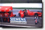 Michael Schumacher in the lead