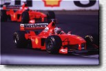 Michael Schumacher and Eddie Irvine. The F 300 are s/n 189 and 184.