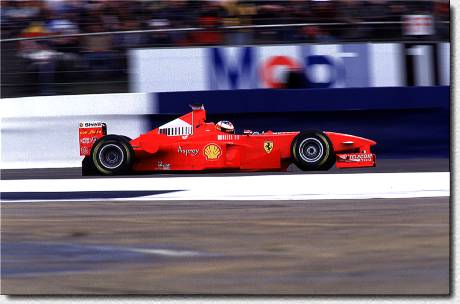 Michael Schumacher in the F300 s/n 187