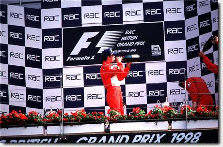 Champagne for Eddie (and for Jean Todt)