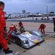 Alboreto makes a fuel stop while in the lead