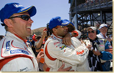 Frank Biela, with teammate Pirro, gets first ALMS win of 2005