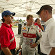 Rinaldo Capello, Tom Kristensen, Head of Audi Sport Dr Wolfgang Ullrich (from left)
