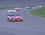 Panoz #1 with Magnussen went into the lead