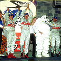 The Winning Team - Tom Kristensen, Frank Biela and Emanuele Pirro