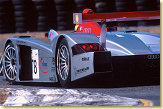 That's all what the #2 and #1 Panoz could see for the first hour the back of the #78 Audi R8 driven by Emanuele Pirro