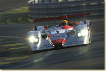 Audi driver Frank Biela (#1) in first qualifying on Wednesday