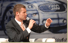 Tom Kristensen at the Audi Designers´ Tuesday