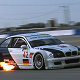 JJ Lehto downshifts for turn 15 in his BMW M3 GTR