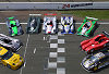The most important competitors at Le Mans (from left to right: Chevrolet, Cadillac, MG, Bentley, Audi, Chrysler, Courage-Peugeot, Panoz, Saleen)
