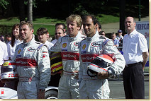 The Audi drivers (#1): Tom Kristensen, Frank Biela, Emanuele Pirro & Dr. Ulrich (from left)