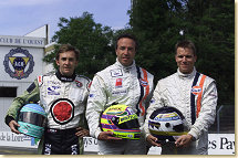 Johansson Motorsport drivers Patrick Lemarie, Tom Coronel and Stefan Johansson (from left)