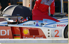Rinaldo Capello at the wheel of the Audi R10