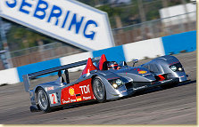 "Dindo Capello in the Audi R10 at the ""Sebring Winter Test"""