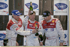 Dindo Capello, Tom Kristensen and Allan McNish on the podium