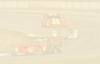 Brabham leads Pirro in the early stages of the race, shortly before EP pased the #1 Panoz