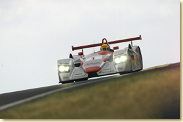 Frank Biela leads the 2001 edition of the Le Mans 24 Hour race in the Infineon Audi R8 (#1)