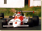"1984 was the last year of the Formula 2 which was renamed ""F3000"" in 1985. Emanuele Pirro piloted a March 842-BMW of the Onyx Team. His best result of the season was a 2nd position at Donington."