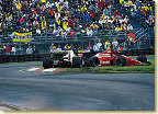 A collision caused by Michele Alboreto in his Arrows forced Emanuele to give up the race.