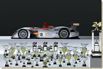 The Audi R8 scored 50 victories out of 60 races; Photo Audi Press