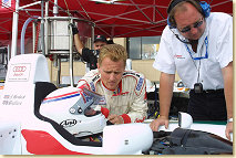 Johnny Herbert with his team mate Andy Wallace