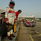 Driver change: Rinaldo Capello waits for Tom Kristensen