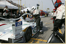 Pit-stop of Team ADT Champion Racing