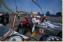 Pit-stop of Infineon Team Joest