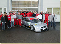 The team of Audi Sport and the Audi A4 DTM