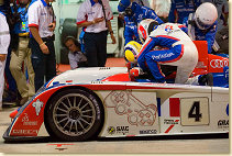 Pit stop at the Audi PlayStation Team ORECA