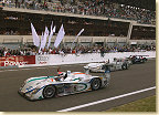 The finish at Le Mans