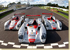 The three Le Mans winning Audis from 2002, 2001 and 2000 (from left to right)