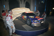 The Audi drivers unveilling the Audi A4 DTM 2005