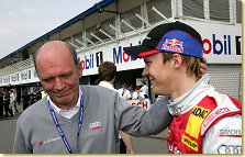 Head of Audi Motorsport Dr Wolfgang Ullrich and Martin Tomczyk